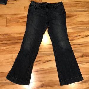 Liz Claiborne original fit flare leg jeans size 14